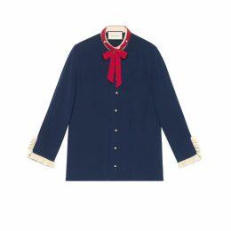 Silk shirt with neck tie