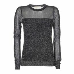 MICHAEL Michael Kors  METALLIC CREW  women's Sweater in Black