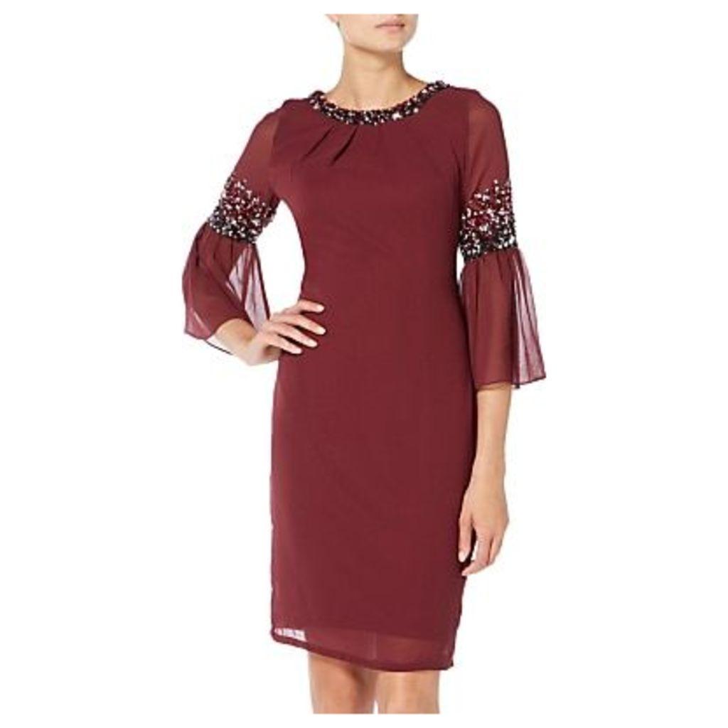 Raishma Midi Dress, Burgundy