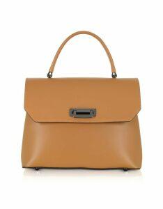 Gisèle 39 Designer Handbags, Lutece Medium Leather Top Handle Satchel Bag