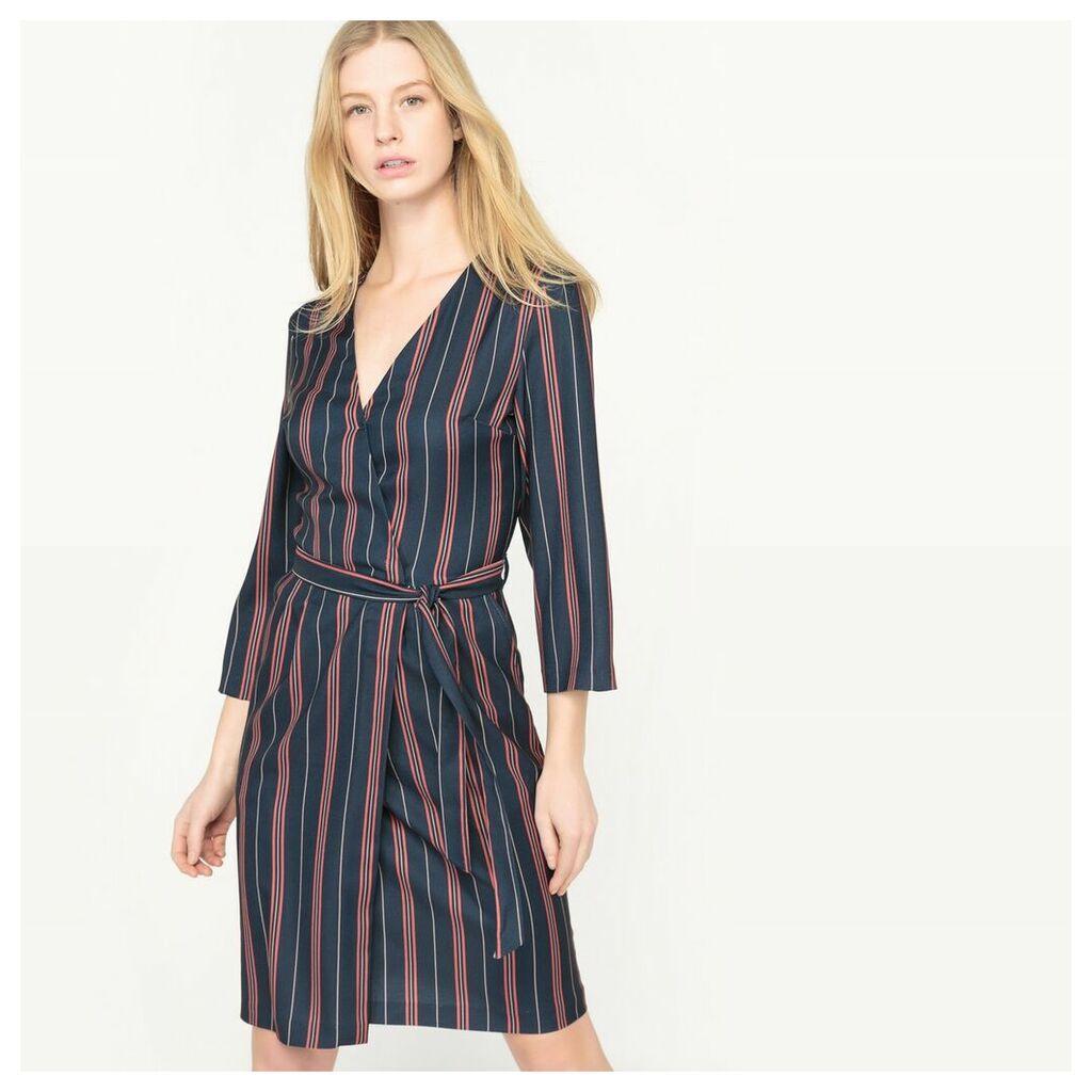 Striped Wrapover Dress