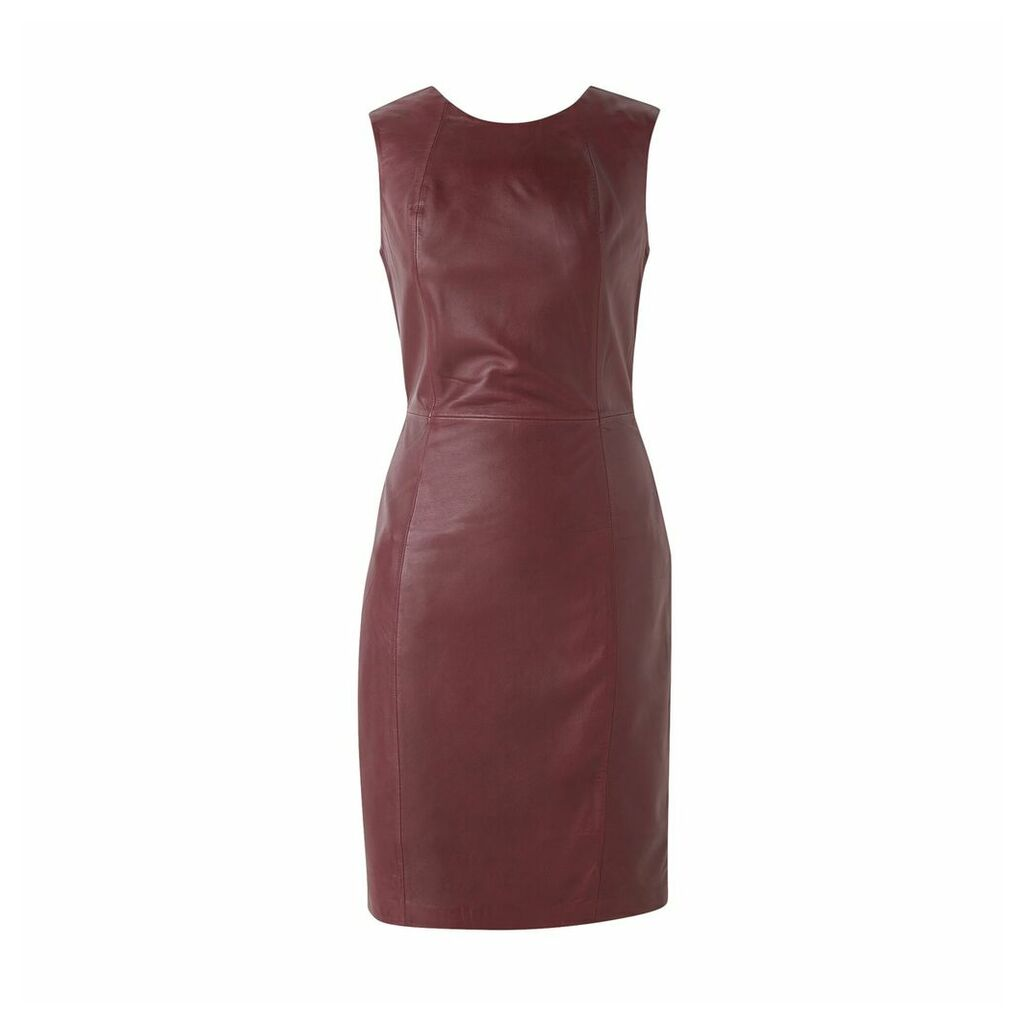 Leather Knee-Length Dress