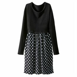 Two Piece Dress with Polka Dot Skirt