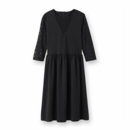 Lace Detail Midi Dress
