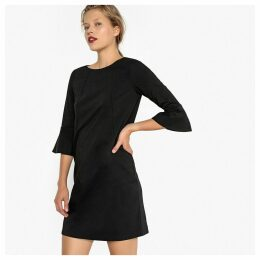 Shift Dress with Peplum Sleeves