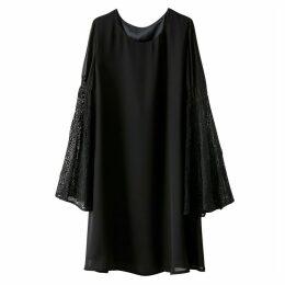 Laced Swing Sleeve Dress