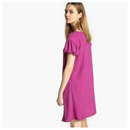 Shift Dress with Ruffled Sleeves