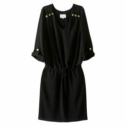 Shirt Style Dress with Elasticated Waist