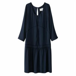 Smock Dress with Openwork Detail