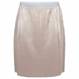 Metallic Style Pleated Skirt