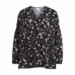 Floral Print Button Up Blouse