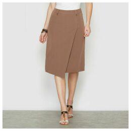 Asymmetrical Knee-Length Skirt