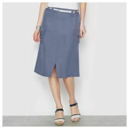 Wrapover Midi Skirt