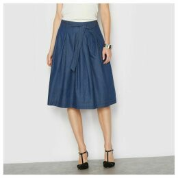 Sofly Draping Full Denim Skirt