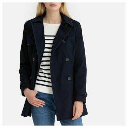 Short Cotton Trench Coat