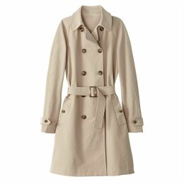 Cotton Mix Mid-Length Trench Coat