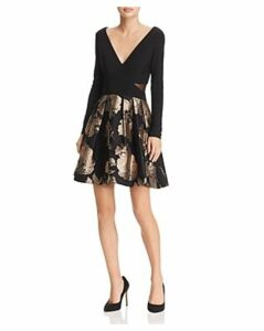 Avery G Brocade Party-Skirt Dress