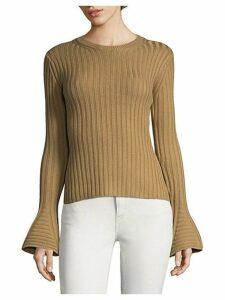 Bell Sleeve Wool Sweater