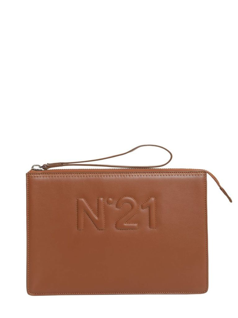 N.21 Clutch With Embossed Logo