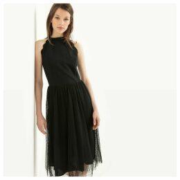 Scalloped Midi Tutu Dress