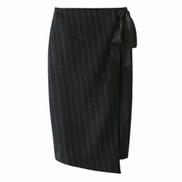 Wrapover Striped Skirt