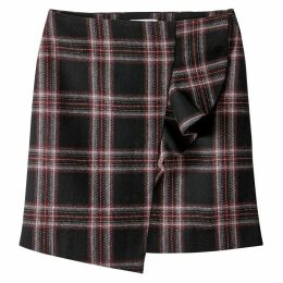 Checked Frill Skirt