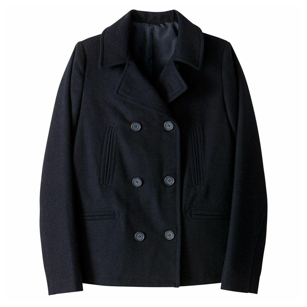 Wool Blend Classic Coat