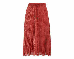 Harlow Pleated Devore Skirt