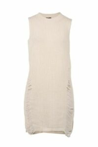 High Neck Pulled Knit Dress