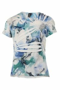 Blurred Abstract Print Top
