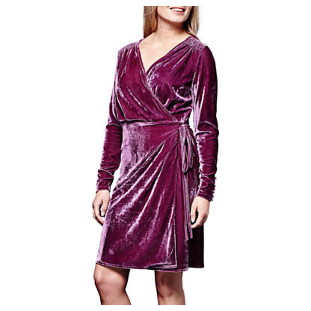 Yumi Velvet Tie Wrap Dress