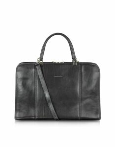 Chiarugi Designer Briefcases, Double Handle Leather Briefcase