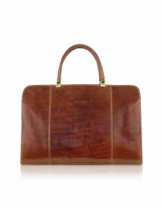 Chiarugi Designer Briefcases, Handmade Brown Genuine Italian Leather Business Bag