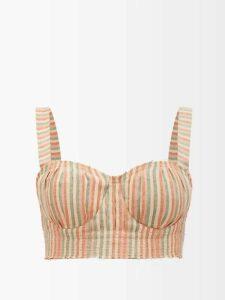Rhode - Leonard Tassel Hem Velvet Dress - Womens - Burgundy