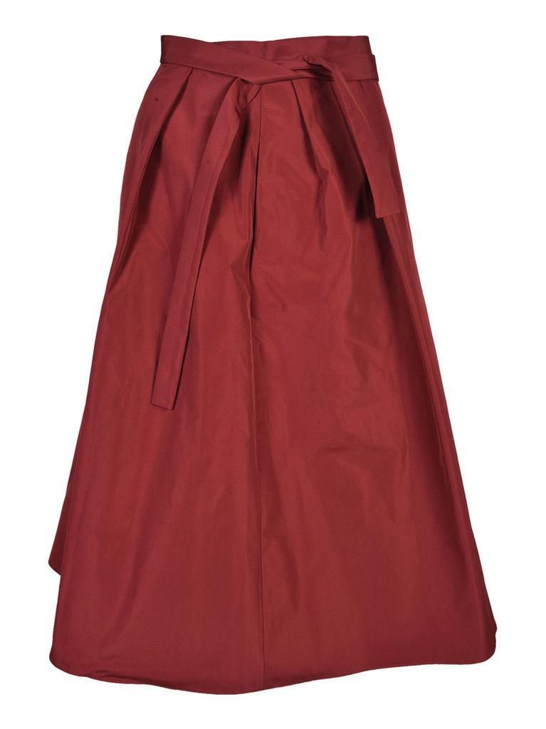 Jil Sander Navy Self-Tie Skirt