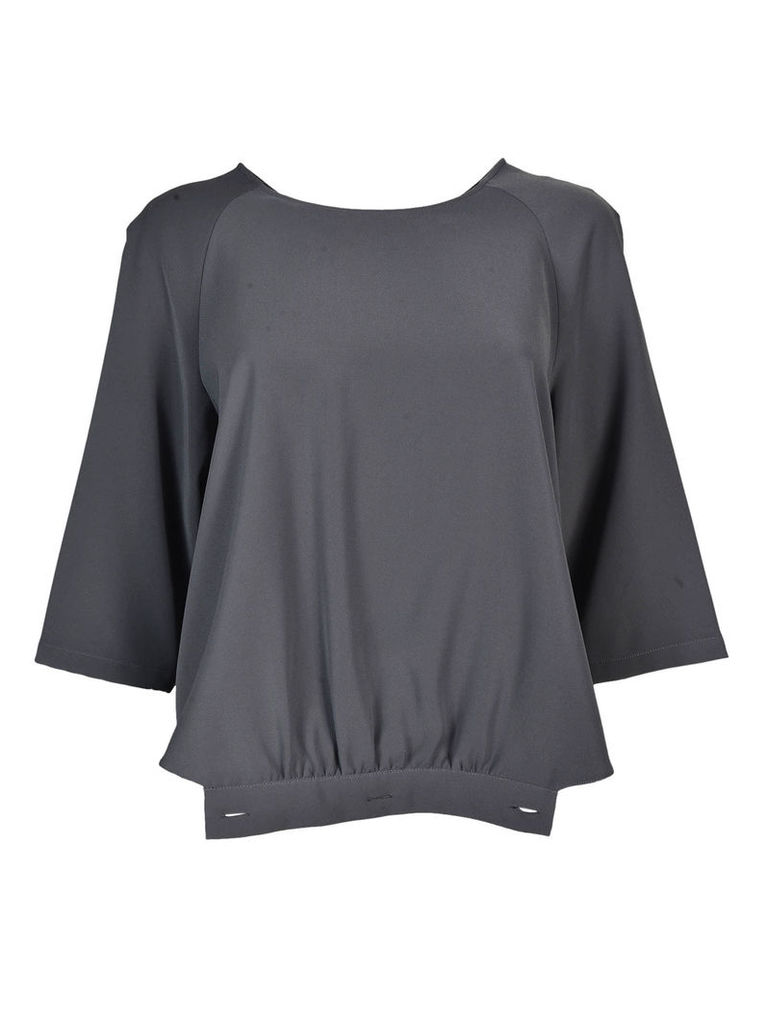 Armani Collezioni Back Zipped Wide Sleeved Top