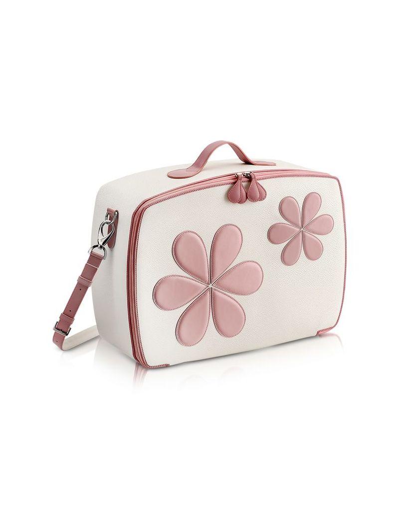 Pineider Designer Travel Bags, Pink Flower Mini Travel Bag