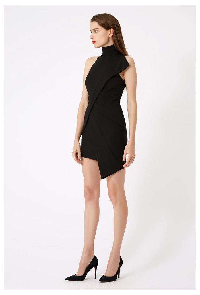 cab962edad Lorelai Asymmetric Mini Dress - Black by AQ/AQ | Snap Fashion - Shop ...