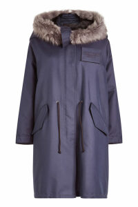CALVIN KLEIN 205W39NYC Cotton and Silk Parka with Sheepskin