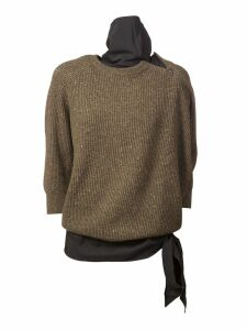 Brunello Cucinelli Knit Bowls Bowknot Pullover