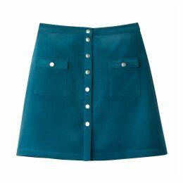 Velvet Button Skirt