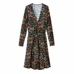 Floral Print Wrapover Dress