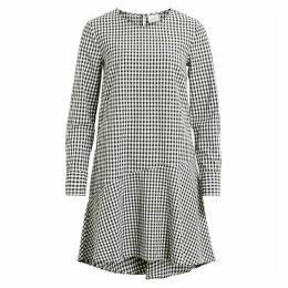 Checked Flared Dress