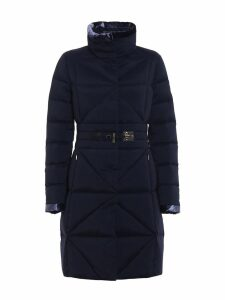 Fay Frog Detail Fitted Padded Coat