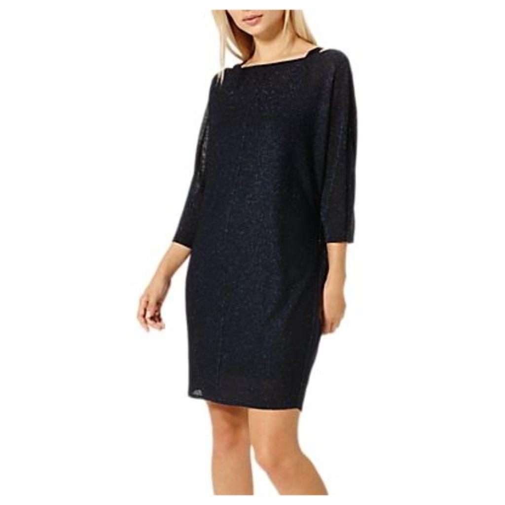 Damsel in a Dress Saira Shimmer Knitted Dress, Cobalt/Black