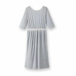 Pleated Midi Length Dress