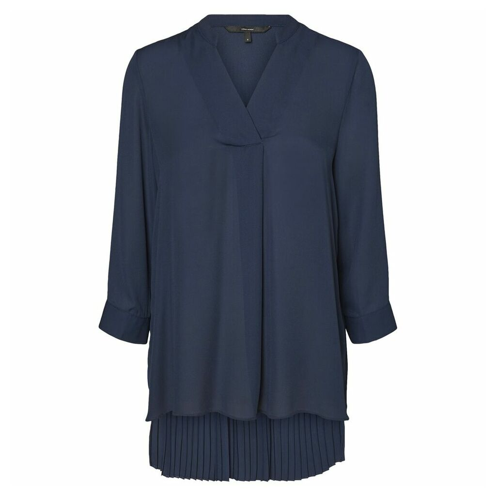 Tunic with Pleated Back
