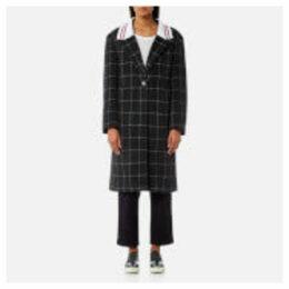 Maison Kitsuné Women's Ribbed Thelma Masculine Coat - Grey - L - Grey