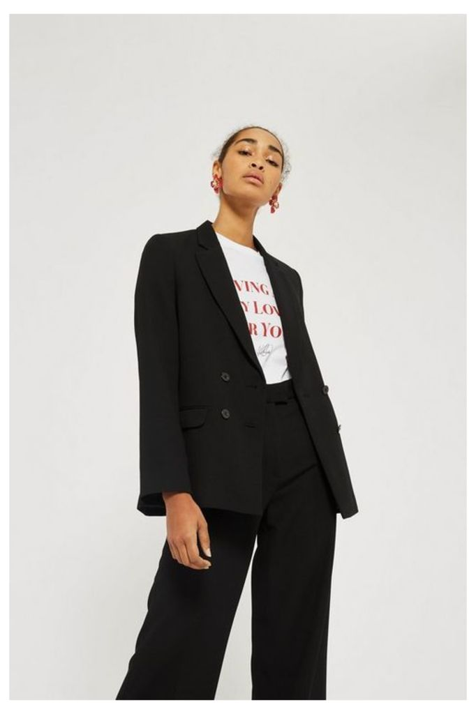 Womens Slouch Suit Blazer - Black, Black