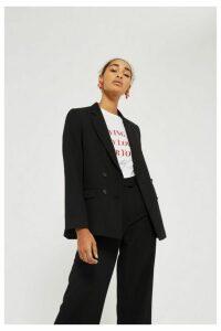 Womens Slouch Suit Blazer - Black, Black